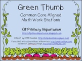 Green Thumb Math Work Stations