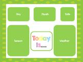 Green Today Is....Mat, Cards, Labels. Preschool-Kindergart