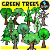 Green Trees Clip Art Bundle {Educlips Clipart}