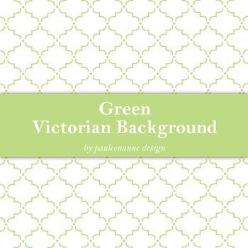 Green Victorian Pattern Background