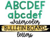 Green Watercolor Bulletin Board Letters