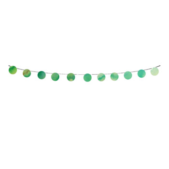 Green Watercolor Bunting Banner