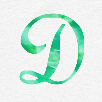 Green Watercolor Letters Clip Art