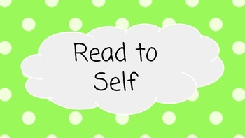 Green & White Polka Dot Reading & Daily 5 Banner