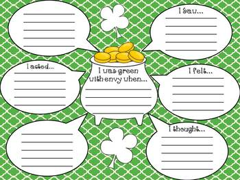 Green With Envy: A St. Patrick's Day Craftivity