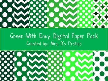 Green With Envy Digital Paper Pack