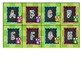Green Owl Alphabet Labels