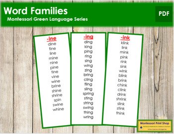 Green: Word Families