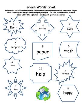 Green Word Splat Game