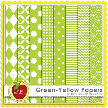 Green-Yellow Basic Digital Papers