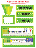 Green Yellow Dots Classroom Theme Kit