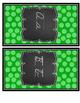 Green and Black Cursive Alphabet