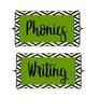 Green and Black Teacher Labels