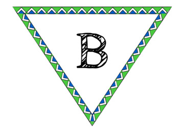 Green and Blue Banner Pendant