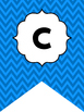 Green and Blue Chevron Welcome Bunting. Printable Classroom Accessories.