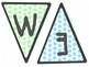 Green and Blue Dots Welcome Banner