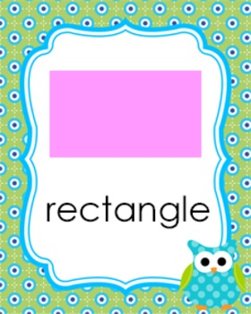 Green and Blue Owl Theme Shape Posters