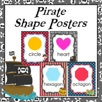 Pirate  Theme Shape Posters