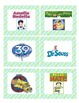 Green and Blue Plaid Book Basket Labels