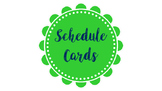 Green and Blue Schedule Cards