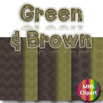 Green and Brown Digital Papers