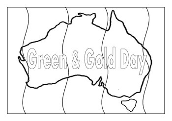 Green and Gold Day Colouring Pages