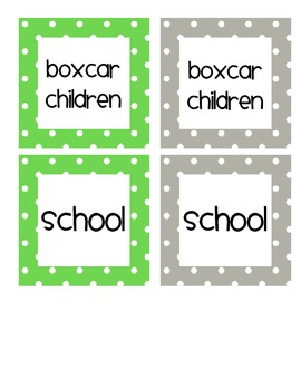 Green and Gray Book Bin Labels