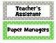 Green and Gray Classroom Jobs