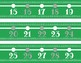 Green and Gray Number Line Decor