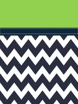 Green and Navy binder cover
