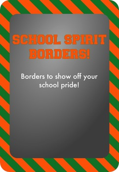 Green and Orange - School Spirit Borders 9 Pack