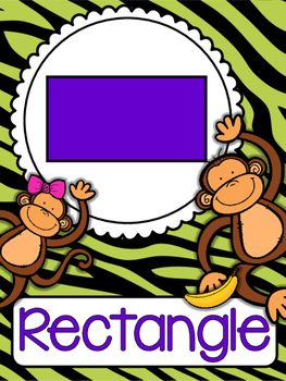 Green and Purple Jungle Themed Shape Posters 2D and 3D Full Size and Mini