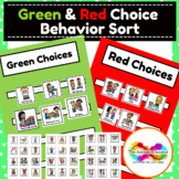 Green and Red Choices Behavior Sort Activity for Autism Sp