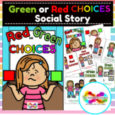 Green and Red Choices Social Story for Autism Special Educ