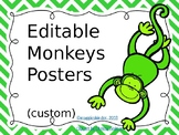 Green and Red Monkey Posters Editable (Custom)