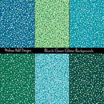 Green and Turquoise Blue Glitter Textures
