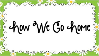 Green and White Daisies How We Go Home Chart