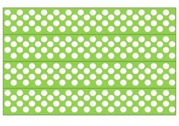 Green and White Polka Dot Borders