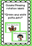 Green and White Polka Dot Guided Reading Rotation Labels