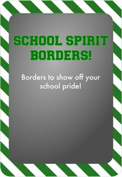 Green and White - School Spirit Borders 9 Pack