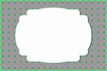 Green and White Spot Labels