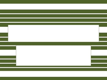 Green and White Stripe PowerPoint Template