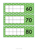Green and White Themed Days in School Sticker Chart