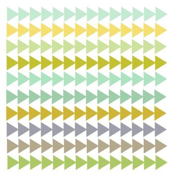 Green and Yellow Arrowhead Borders