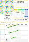Green and Yellow Dots Planner Template