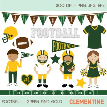 Green and gold football clip art