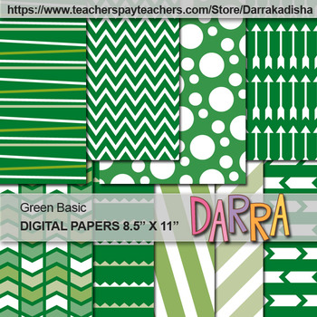 Green background digital papers