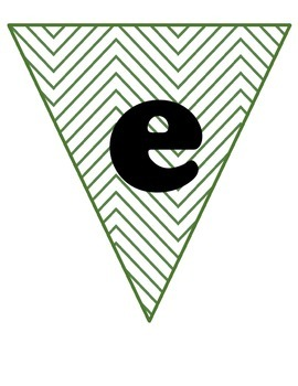 Green chevron welcome banner