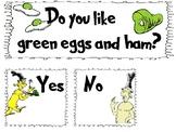 Green eggs & Ham Answer Cards