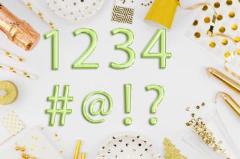 Green foil balloon alphabet clipart, Green balloons, Green Foil alphabet, Green